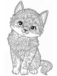 Coloring Page Animals For Teens And Adults Dieren Voor Volwassenen