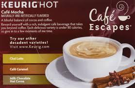 cafe escapes cafe mocha keurig k cups