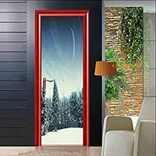 Decals Stickers Vinyl Art Home Garden Skiing Wall Decal Living Room Skier Ski Lift Chair Mountain Pine Tree Sticker Adrp Fournitures Fr