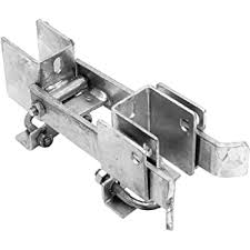 Amazon Com Chain Link Fence Commercial Strong Arm Double Gate Latch For 1 5 8 Thru 2 Gate Frames Pipe Sizes Use This Double Gate Latch Where 2 Gates Swing Together Home Improvement