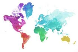 Detailed Tutorial How To Create Fast And Easy Watercolor World Map Diy With Free Printable Outline Easy Watercolor Watercolor Map World Map Painting