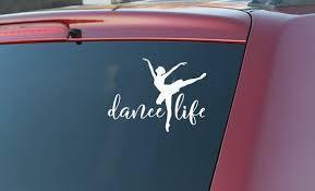 Dance Life Vinyl Car Decal Ballet Car Decals Vinyl Dance Life Car Decals