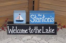 our lake house wood sign prim