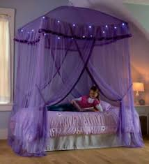 Lighted Bed Canopy Sparkling Lights Bower Kids Girls Princess Children Bedroom Ebay