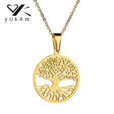 yukam simple hollow gold stainless