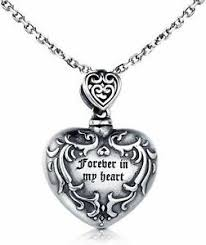 925 sterling silver urn necklace for
