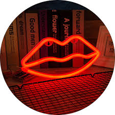 Lip Neon Lights Red Led Neon Sign Lamp Battery Usb Operated For Kids Room Decor Ebay