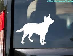Cattle Dog Vinyl Sticker Australian Red Blue Heeler Acd Puppy Die Cut Decal Minglewood Trading