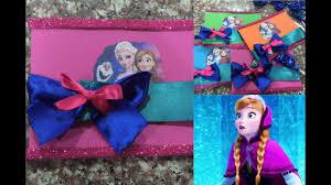 Tarjeta De Invitacion Frozen Super Facil De Hacer Youtube