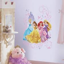 Roommates 2 5 In X 27 In Disney Princess Wall Graphix Peel And Stick Giant Wall Decal 1 Piece Rmk2799tb The Home Depot