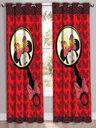 minnie mouse printed polyester curtains