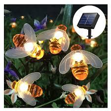 Dây đèn LED trang trí sân vườn chống nước hình ong mật xinh xắn chất lượng  cao