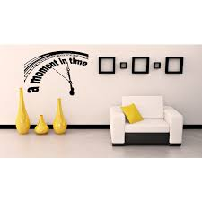 Shop A Moment In Time Clock Seconds Wall Art Sticker Decal Overstock 11521804