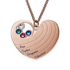 birthstones in rose gold plating
