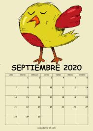 ▷ Plantilla Calendario 【SEPTIEMBRE 2020】 para IMPRIMIR