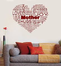 Wall Sticker Vinyl Decal Happy Mothers Day Word Cloud Decor Unique Gif Wallstickers4you