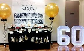 birthday party ideas 60th birthday