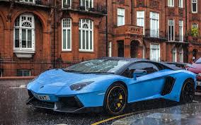 blue lamborghini aventador wallpapers