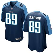 Phillip Supernaw Nike Tennessee Titans No.89 Game Jersey - Navy