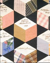 File:Quilt, Tumbling Blocks with Signatures pattern MET ADA2947 ...