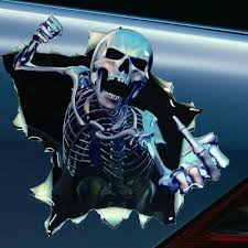 Auto Parts Accessories Skelleton Skull Rear Window Decal Sticker Pick Up Truck Suv Car Smaitarafah Sch Id