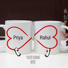 personalized him and her mug send