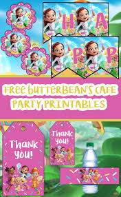 Butterbean S Cafe Birthday Party Printable Files Imprimibles