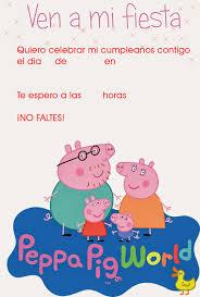 Invitaciones De Peppa Pig Para Imprimir Invitaciones De Peppa