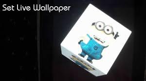 3d minion live wallpaper you