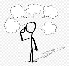 Cartoon Drawing Person Thought Stick Figure - Person Drawing ...
