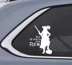 We Wants The Rum Redhead Redd Car Decal Sticker Inspired By Etsy Custom Vinyl Decal Car Decals Stickers Custom Window Stickers