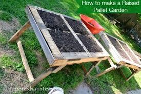 diy pallet garden bed pallets designs
