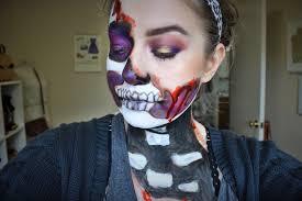 easy diy skeleton makeup happy