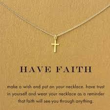 gold cross pendant necklace women girl