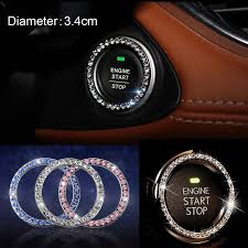 2pcs Fashional Bling Car One Key Engine Start Button Ignition Device Decorative Crystal Diamante Ring Sticker Automotive Interior Stickers Aliexpress