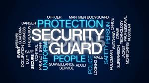 security guard animated word cloud