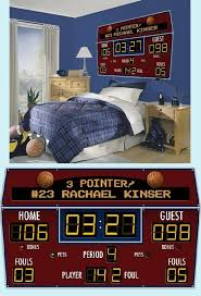 Who Wouldn T Want A Scoreboard Above Their Bed Basketball Room Basketball Bedroom Sports Room