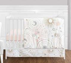4 pc blush pink gold grey and white