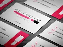 makeup artist business card sles