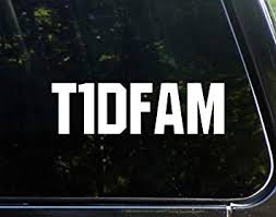 Amazon Com Type One Diabetes Fam 8 3 4 X 3 Vinyl Die Cut Decal Bumper Sticker For Windows Cars Trucks Laptops Etc Automotive