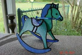 stained glass rocking horse