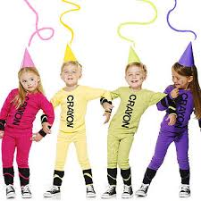 colorful and easy crayon costume pas