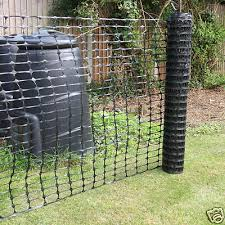 50m Black Plastic Mesh Barrier Safety Fencing Netting 20 Black Plastic Pins 5060297018015 Ebay