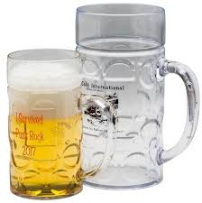32oz dimpled beer stein personalized