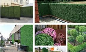 Artificial Hedge Outdoor Faux Fence