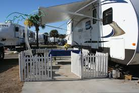 Fencing For The Dogs While Camping Camper Living Rv Living Rv Dog