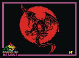 Dragon Full Moon Vinyl Decal