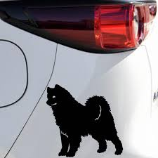Buy 2 Pieces Car Stickers Samoyed Dog Design Reflective Vinyl Car Styling Truck Decoration Stickers Car Sticks Decal