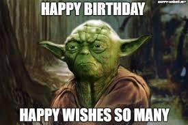 best star wars funny happy birthday meme yoda memes happy