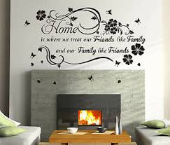 Home Family Inspirational Wall Quotes Vinyl Wall Sticker Decal High Quality Ebay